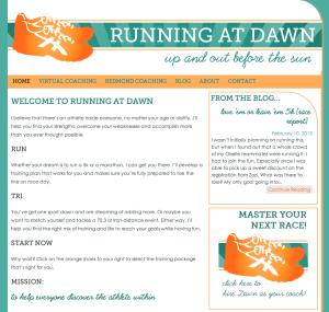 Running at Dawn Blog
