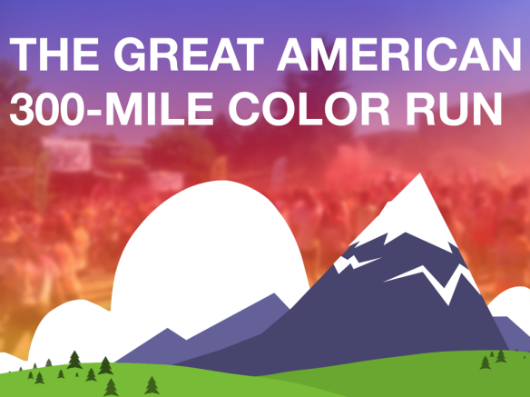 The Great American 300-Mile Color Run