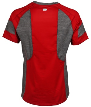 Stayton Red Vented Merino Wool Running Shirt_Back