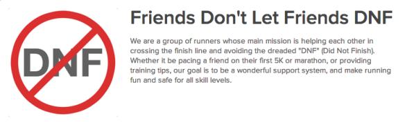 Friends Don't Let Friends DNF