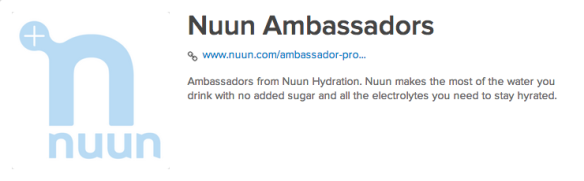 Nuun Ambassadors