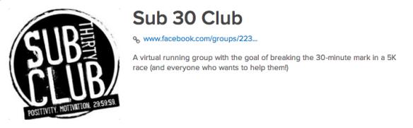 Sub 30 Club